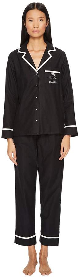 Kate Spade New York - Baby It's Cold Outside Brushed Twill Pajama Set Women's Pajama Sets