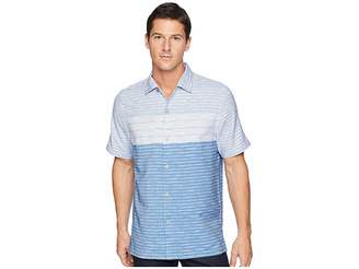 Tommy Bahama Agua Azul Stripe Camp Shirt Men's Clothing