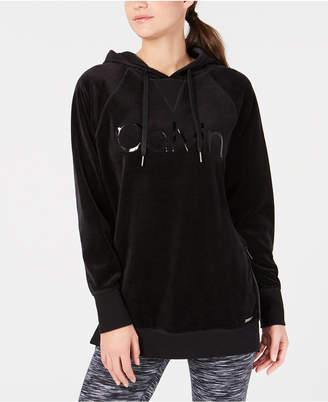 Calvin Klein Side-Zip Tunic Hoodie