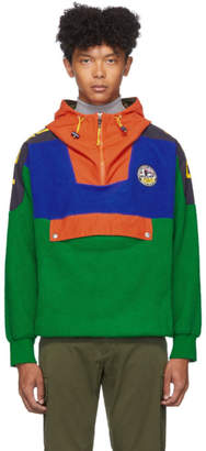 Polo Ralph Lauren Green Fleece Half-Zip Hoodie