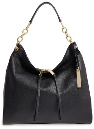 Vince Camuto Avin Leather Hobo - Black $248 thestylecure.com
