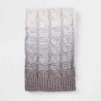 River Island Grey ombre knit scarf