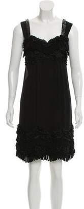 Yoana Baraschi Embellished Silk Dress w/ Tags