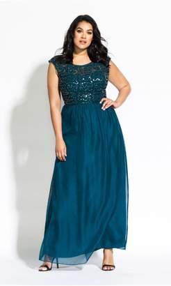City Chic Citychic Sweet Love Maxi Dress - emerald