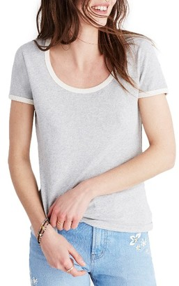 Women's Madewell Recycled Cotton Ringer Tee $29.50 thestylecure.com