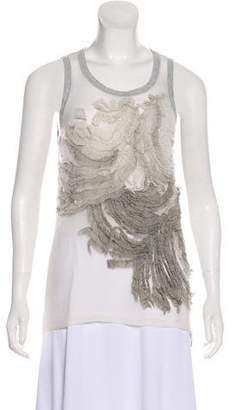 Barbara Bui Textured Sleeveless Top