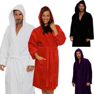 Mirko Terry Velour Hooded Bathrobe%100 Cotton Men's Women's Robe Best Gift for Her(,XXL)