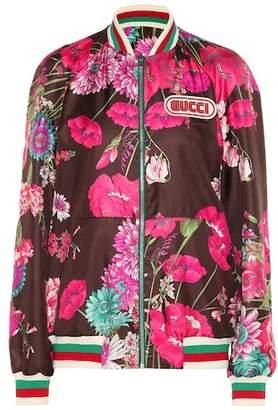 Gucci Reversible silk twill jacket