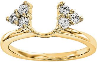 MODERN BRIDE 1/4 CT. T.W. Diamond 14K Yellow Gold Ring Wrap