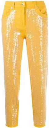 Blumarine sequinned jeans
