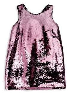 Milly Minis Little Girl's& Girl's Kat Bow Sequin Shift Dress
