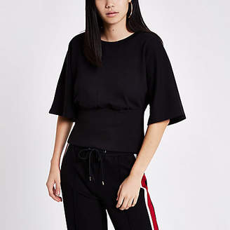 River Island Womens Black cape sleeve sweatshirt
