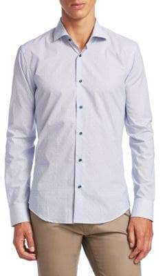 Saks Fifth Avenue COLLECTION Spotted Dots Button-Down Shirt
