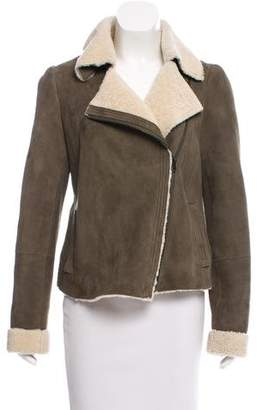 Vince Asymmetrical Shearling Jacket