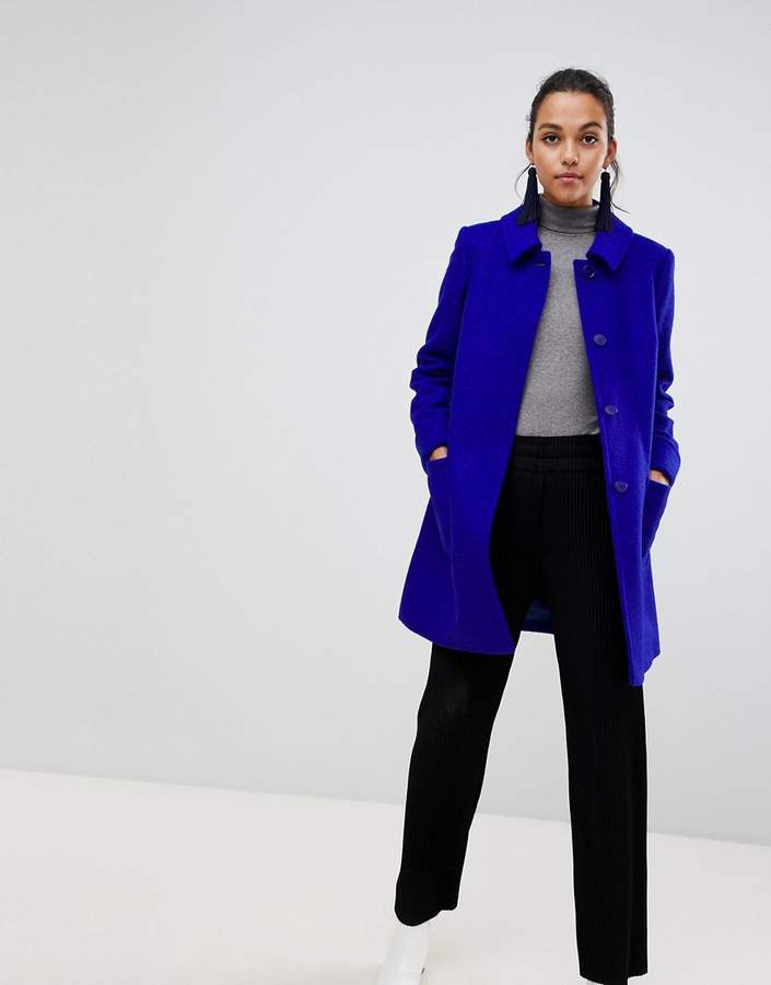 Helene Bermal Swing Coat in Wool Blend