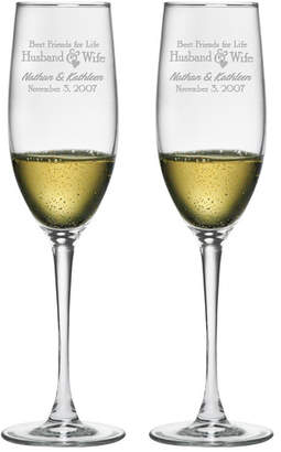 Susquehanna Glass Best Friends for Life Champagne Flute