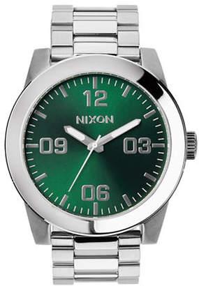 Nixon Corporal SS Green Dial Watch