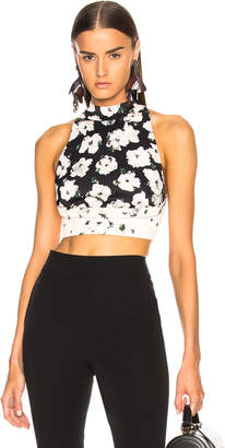 Proenza Schouler Printed Sleeveless Crop Top