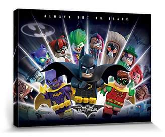 Lego 1art1® The Batman Movie Stretched Canvas Print - Always Bet On Black (32 x 24 inches)