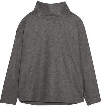 Victoria Beckham Victoria, Brushed Wool And Cashmere-blend Top - Gray