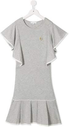Chloé Kids ruffled marl T-shirt dress