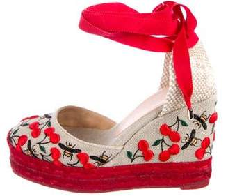 Castaner Cherry Espadrille Wedges w/ Tags