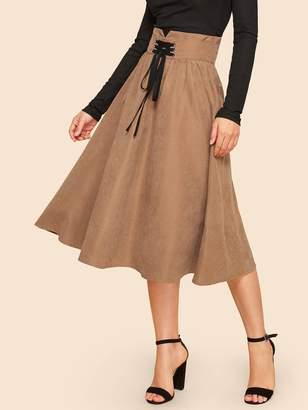 Shein Corset Detail Jersey Skirt