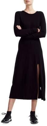 Maje Wave 1 Rolland Knit Midi Dress