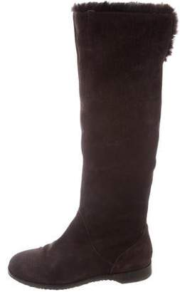 Jimmy Choo Fur-Lined Knee-High Boots