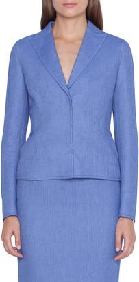 Akris Velia Pique Blazer Jacket