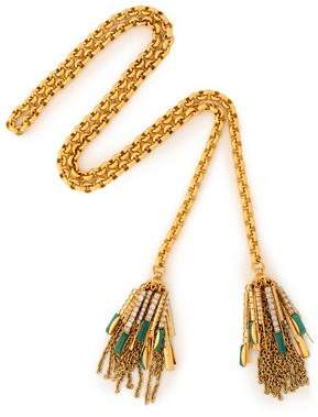Elizabeth Cole Gold-Tone Crystal And Stone Necklace