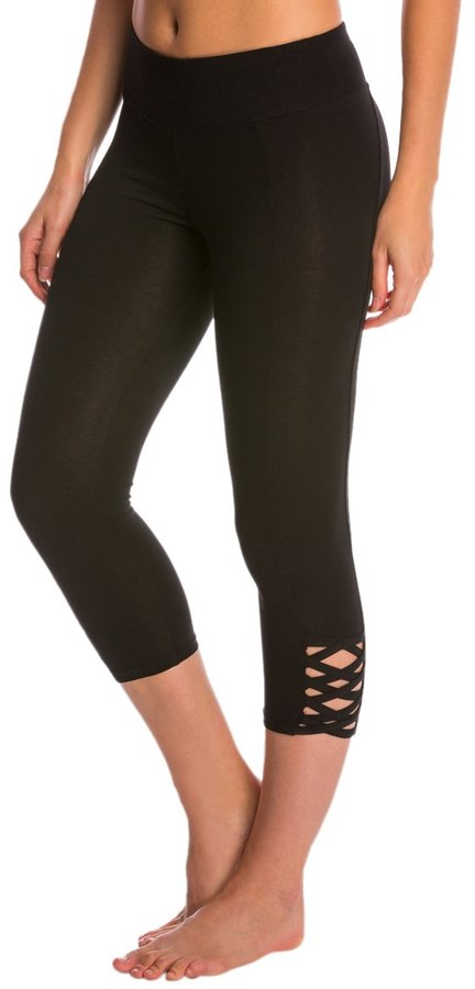 Betsey Johnson Lattice Cutout Yoga Capris 8148948