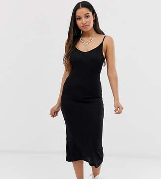 f5eacd88d1d76 Brave Soul Petite rib cami strap midi dress
