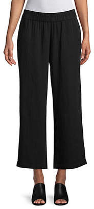 Eileen Fisher Straight-Legged Cotton Gauze Pants