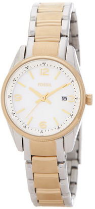 Fossil Women's Two-Tone Mother Of Pearl Bracelet Watch $115 thestylecure.com