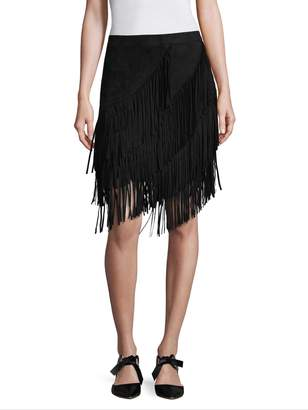 Lea & Viola Women's Fringe A-Line Skirt