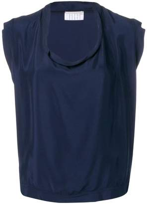 Kiltie draped neck top