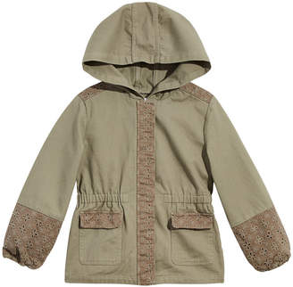 26997bb4f Epic Threads Little Girls Hooded Mixed Media Cotton Jacket