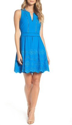 Women's Adelyn Rae Mish Embroidered Fit & Flare Dress $118 thestylecure.com