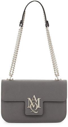 Alexander McQueenAlexander McQueen Insignia Small Chain Satchel Bag, Smoke Gray