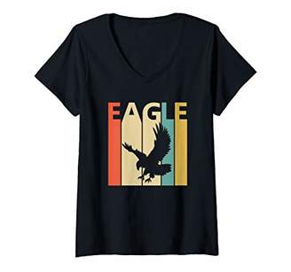 Womens Spirit Animal Eagle Shirt - Vintage Eagle Bird V-Neck T-Shirt