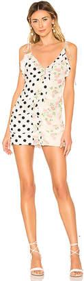 For Love & Lemons Mochi Shirred Mini Dress
