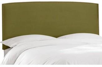 Skyline Furniture Nail Button Border Velvet Headboard, Multiple Colors and Sizes