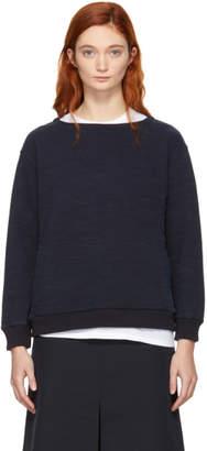 Blue Blue Japan Navy Slub Cotton Sweatshirt