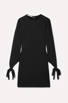 Stella McCartney Tie-detailed Cady Mini Dress - Black