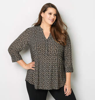 Avenue Abstract Dot Pleated Top