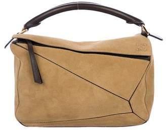 Loewe Suede Puzzle Bag