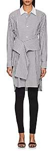 Robert Rodriguez WOMEN'S STRIPED COTTON-BLEND END-ON-END TUNIC