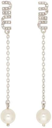 Miu Miu Silver Crystal Earrings