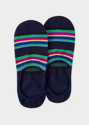 Paul Smith Men's Navy Colour-Block Stripe Loafer Socks